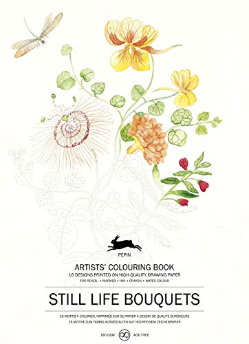 Still Life Bouquets: Artists' Colouring Book (Multilingual Edition)