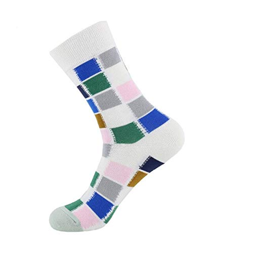 Jejhmy New Women Socks Funny Colorful Geometry Printed Happy Socks Casual Skateboard Calcetines Mujer EUR36-40 8,womens socks nylon