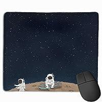 宇宙飛行士 マウスパッド 運びやすい オフィス 家 最適 おしゃれ 耐久性 滑り止めゴム底付き 快適操作性 30*25*0.3cm