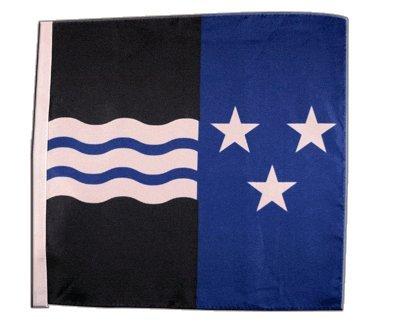 Flagge / Fahne Schweizer Kanton Aargau - 30 x 30 cm