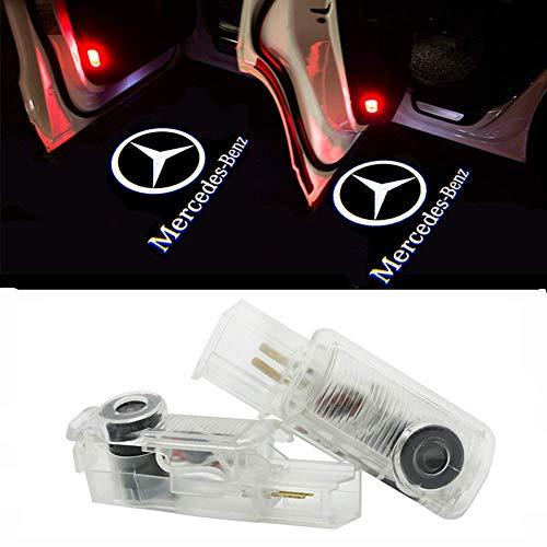 Preisvergleich Produktbild ZTMYZFSL 2 Stücke Auto Logo Projektion Projektor Tür geister Shadow Light Willkommen Lampe Licht