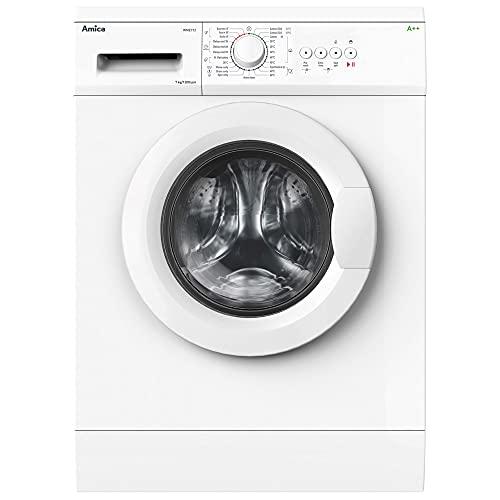 Amica WME712 Freestanding Washing Machine, 7kg Load, 1200rpm Spin, 23 Programmes, White
