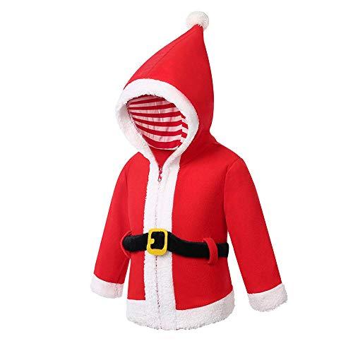 JERFER Weihnachts XMAS Fleece Pullover Säugling Baby Jungen Mädchen Kapuzen Tops Outfits