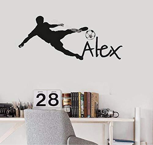 Muursticker post muursticker kinderen spelen voetbal kinderen voetbal sticker voetbal decoratie kleuterschool