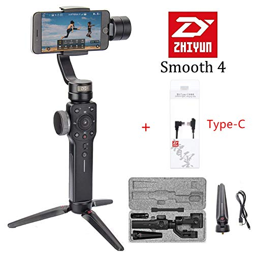 Zhiyun Smooth 4 3-Axis Handheld Smartphone Gimbal Stabilizer YouTube Video Vlog for iPhone 11 Pro Xs Max Xr X 8 Plus Android Samsung Galaxy Note10 S10 S9 S8 S7
