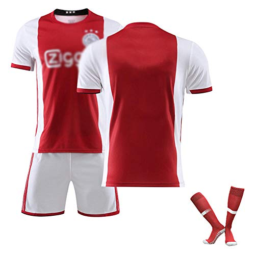 BCGG 19-20# 10 TADIC # 17 Blind Maillot de fútbol para niños Chaleco T-Shirt Traje de Entrenamiento Polo Polo Ropa Deportiva para Hombres (Calcetines Cortos de Manga Corta) -Rojo_S