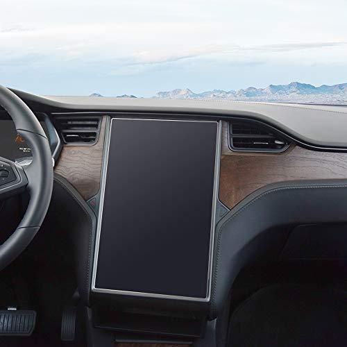 J&D Compatible para Tesla Model X/Model S 17 Inch Navegación del Coche Protector de Pantalla, 1 Pack [Anti Reflejante] Mate Protector de Pantalla para 60 60D 70 70D P85D 90D 100 P100D 75D P90D P100D