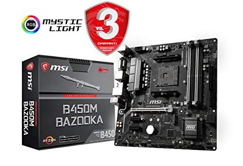 MSI B450M BAZOOKA Scheda Madre DDR4, SATA3, M.2, Realtek GbE, USB 3.1