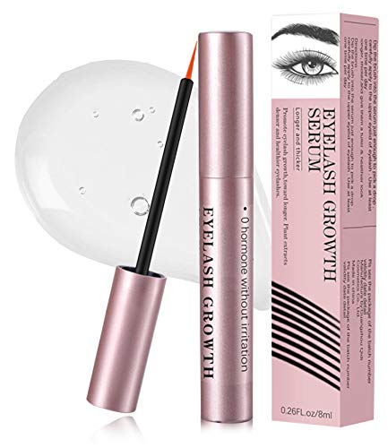 Eyelash Growth Serum, Natural Ingredients Lash Serum with Biotin and Growth Peptides for Long Thick Lashes and Eyebrow Extensions, Improve Strength and Reduce Brittleness