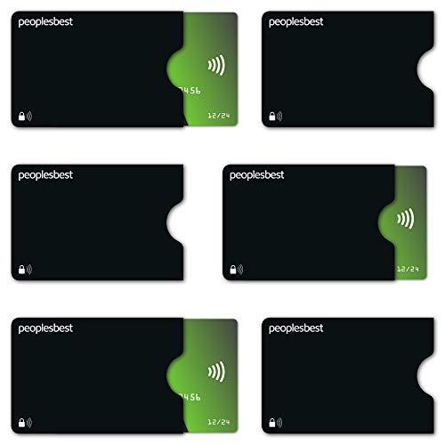 100% Datenschutz | RFID & NFC Kreditkarten-Schutzhülle (6 Stück) | aus stabilem Kunststoff | super dünn & robust