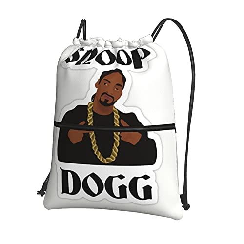 S_N_Oo_P Dog_G Bolsa de gimnasio con cordón con bolsillo interior con cremallera, bolsa de viaje deportiva repelente al agua, mochila ligera para hombres y mujeres