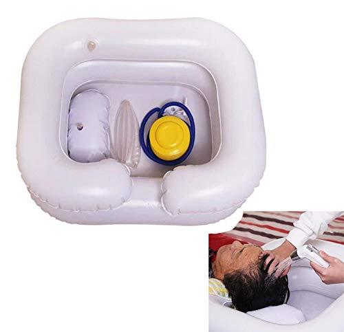 AMhuui Easy Shampoo Basin, tragbares aufblasbares Deluxe-Bad für Behinderte und ältere Menschen Easy & Safe Bathing & Shampooing