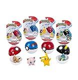 4 Piezas Pokemon Go Pokeball Cinturón Elf Ball En Caja Pikachu Eevee Munchlax Jigglypuff Figuritas Anime Figura De Batalla Muñecas Modelo Juguetes