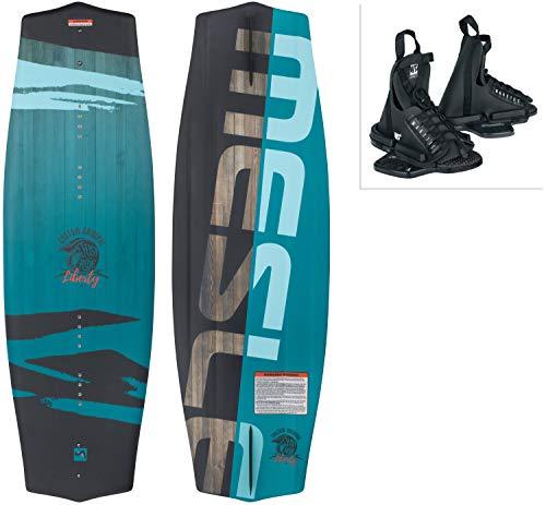 MESLE Wakeboard-Package Liberty 128 cm con Fijaciones Onset Junior, Tabla Infantil/Juvenil para Principiantes a intermedios, Peso Corporal de 20 a 50 kg, Azul Negro