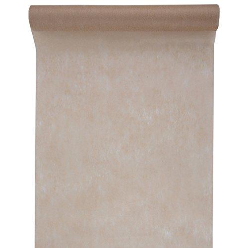 SANTEX 2810-98-60, Grand Chemin de table en tissu non tissé 60cm - Taupe