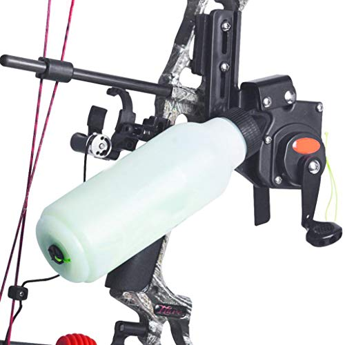 CARACHOME Tiro con Arco Spincast Reel Engranaje Arco Arco Bowfishing Reel Asiento Spincast Reel Compuesto Accesorio de Caza de Lazo con Cuerda 40M