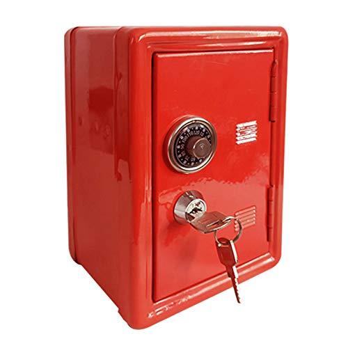 Hucha de banco de juguetes para niños, caja fuerte de almacenamiento de hucha de metal, contraseña con llave, cajón integrado ATM Kids Bank hucha para niños