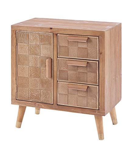 ts-ideen Kommode Schubladenschrank Nachttisch Sideboard Holz Landhaus Stil Flur Diele Regal Holz 69 x 60 cm