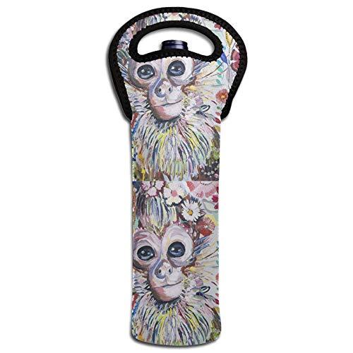 Acuarela Mono Vino Aislamiento Térmico Bolsas Tapas Botella Enfriador Totalizador Decoración