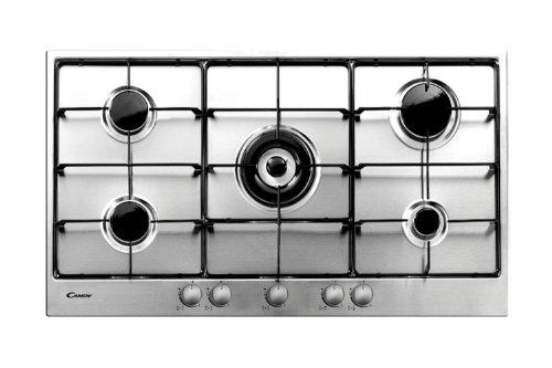 Candy pg953 / 1SX Piano cottura - Piastra (Built-in, gas, acciaio inox, Bottoni, 84 cm, 48 cm), Acciaio inossidabile