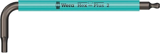 Wera 05022670001 950 SPKS vinkelnyckel, kort, turkos, 2,0 mm