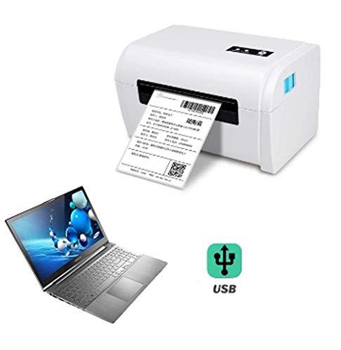 ALIZJJ Label Printer - Commercial Grade Thermique directe Haute Vitesse imprimante Code à Barres - Imprimante 4x6 for Barre d'adresses avec Le Code Maker USB/Bluetooth Auto Peeling