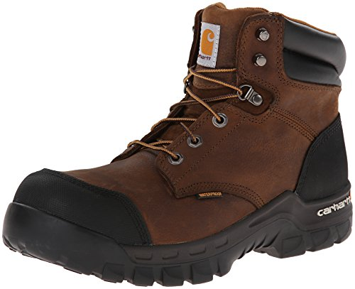 Carhartt Men's 6' Rugged Flex Waterproof Breathable Composite Toe Leather Work Boot CMF6380, Dark Brown Oil Tanned, 11 M US