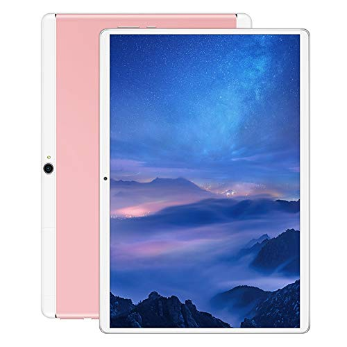 Tablet PC 10-inch 3G Call HD Screen WiFi Bluetooth Tablet PC-Universal (Color : Pink, Size : 16GB)