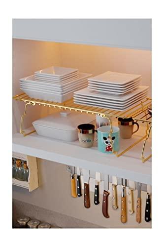 Aqualotus Gold12 - Organizador de cocina para armarios de cocina, 2 unidades