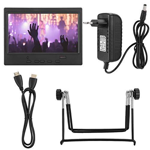 Monitor LCD portátil Pantalla con relación de Aspecto 16: 9 de 7 Pulgadas + VGA + Video AV en Monitor IPS para Pantalla de Coche(European regulations)