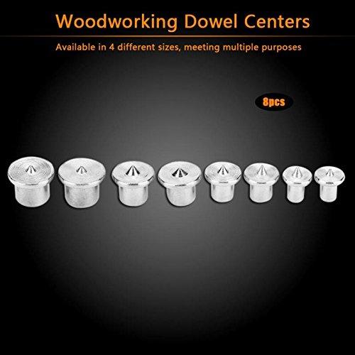 SHIJING 8 stks Houtbewerking Dowel Centers Tenon Uitlijning Gereedschap Punten Marker 6/8/10/12mm Solid Dowel Pins Center Point Set Hout Werken