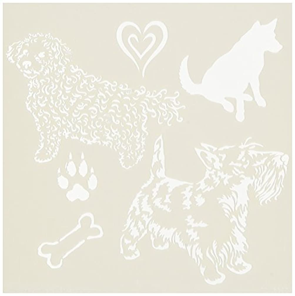 CRAFTERS WORKSHOP Doggies Template, 6 by 6 yn1889132