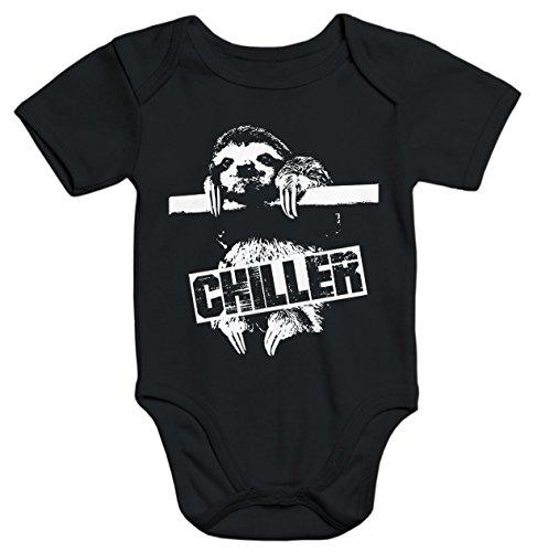 MoonWorks Faultier Baby Body Born Chiller Sloth schwarz 6-12 Monate