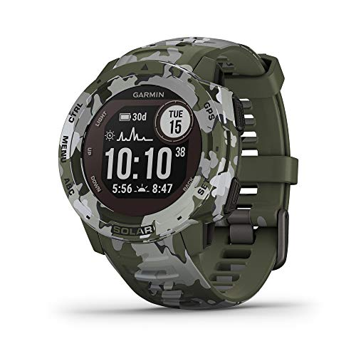 Garmin Instinct Solar, Solar-Powered Rugged Outdoor Smartwatch, Built-in Sports Apps and Health Monitoring,...