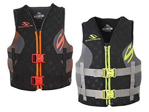 Stearns Hydroprene Life Vest 2 Pack, 1 Black& Green/1 Black & Orange, S/M