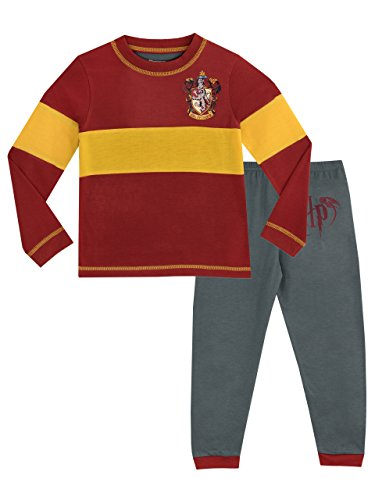 Character Nightwear Red Ages 9-10 Harry Potter Hogwarts Pyjama Set