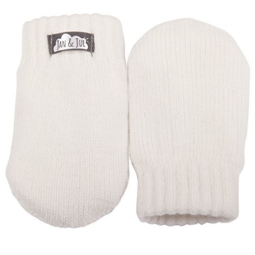 Product Image of the JAN & JUL Baby Toddler Girl Warm Fleece Lined thumbless Knit Mittens for Fall...