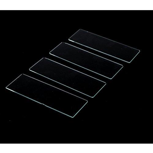 perfk 50x Klare Mikroskop Objektträger Deckgläser Gläser, Experiment für Kinder und Erwachsene
