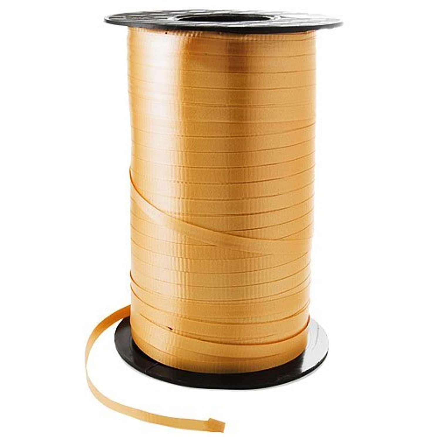 3/16 Crimped Curling Ribbon 500 Yards Spool, GOLD Color for Gift Wrapping by UFindings