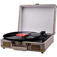 GRC Portable Suitcase Vinyl Record Player