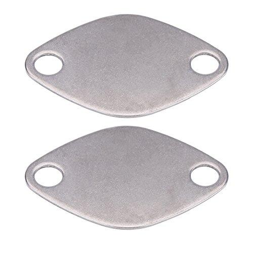 Keenso 2 Stücke 8mm AGRVentil Blanking Block Platten Dichtung für E53 E38 E39 E46 X5