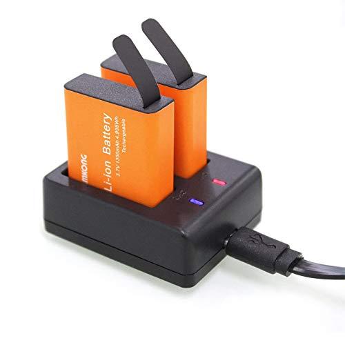 2X1350mAh Action Camera Battery Rechargeable for CAMKONG/AKASO EK7000/ APEMAN/SJCAM SJ4000 SJ5000 SJ6000 SJ7000/ Crosstour/Victure/WiMiUS/Victure/Campark/Vemont/SOOCOO/VicTsing/EKEN Sports Camera