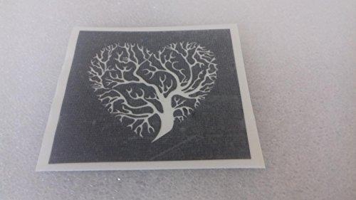 25 x Lebensbaum Schablonen zum Ätzen auf Glas Geschenk Glaswaren Hobby Craft