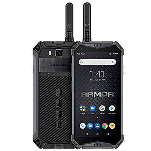 Ulefone Armor 3WT, 4G Móvil Antigolpes, Helio P70 Octa-Core 6GB RAM 64GB ROM, Android 9.0 Pie - Impermeable Moviles Todoterreno - Dual SIM, 10300mAh Batería - Desbloqueo Facial - Negro