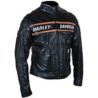 F&H Men's WWE Bill Goldberg Biker Motorcycle Jacket L Black