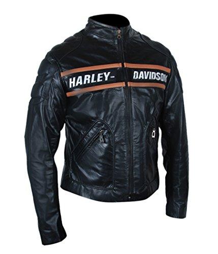 F&H Men's WWE Bill Goldberg Biker Motorcycle Jacket XL Black