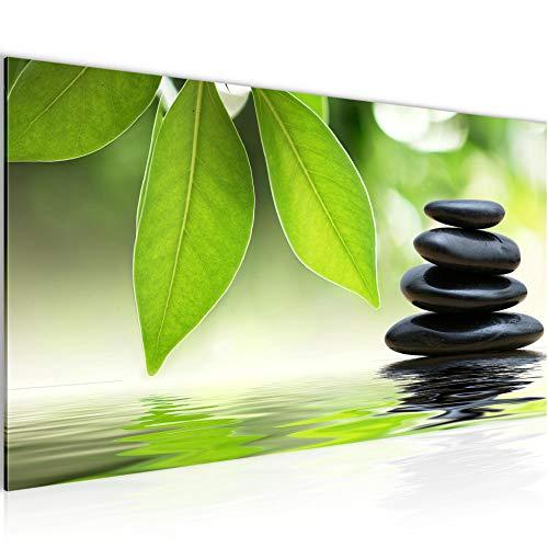Bilder Zen Garten Wandbild 100 x 40 cm Vlies - Leinwand Bild XXL Format Wandbilder Wohnung Deko Kunstdrucke - MADE IN GERMANY - Fertig zum Aufhängen 501112a