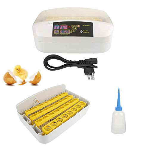 32 Egg Incubator Hatcher, Digital Automatic Egg Turning Temperature Control Machine with Led Display for Chicken Duck Goose Turkey US Plug 110V