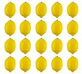 JEDFORE Artificial Lemons Simulation Lifelike Small Lemons Fake Fruit for Home Kitchen Wedding Party Decoration Photography 20pcs Set (Yellow)