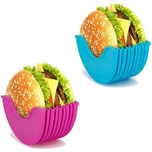 2/4 Stück Burger Fixed Box Sandwich Lagerregal Erweiterbarer wiederverwendbarer Burgerhalter zum Essen 2Pcs-A
